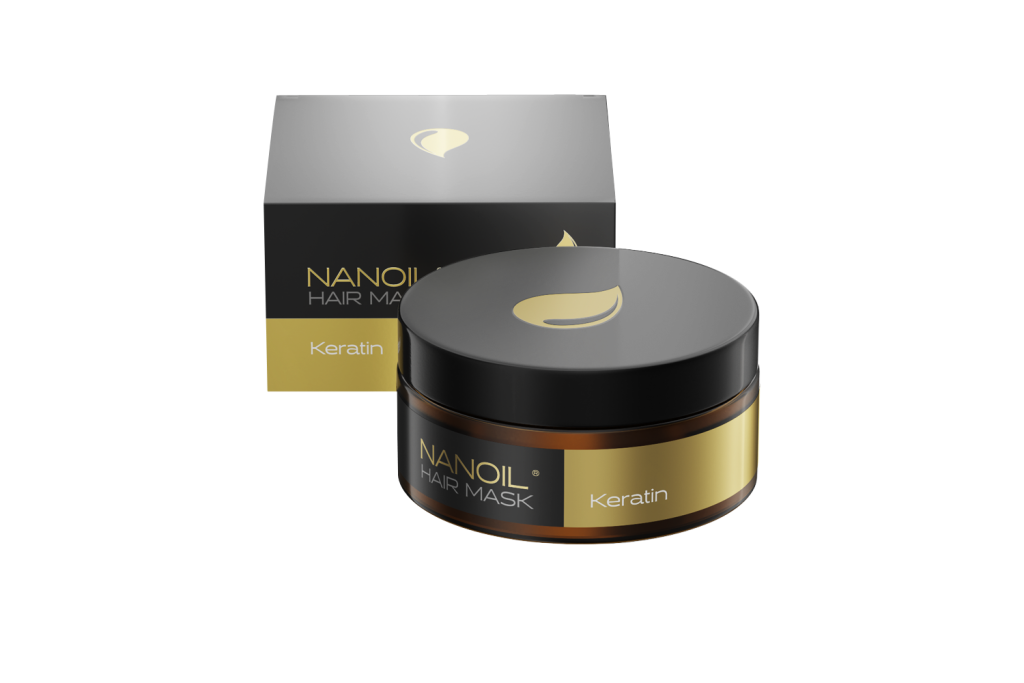 Regenerierende Nanoil Haarmaske mit Keratin. Erstklassige Haarpflege!